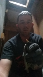 Me With the Bird Stuck in the Chimney Box